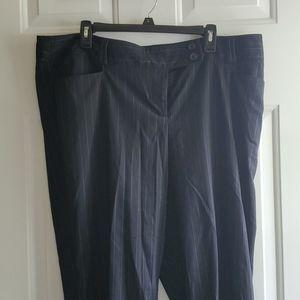 Women's block pinstripe dress pants